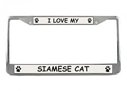 Siamese Cat License Plate Frame