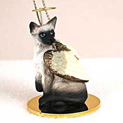 Siamese Cat Christmas Ornament Angel