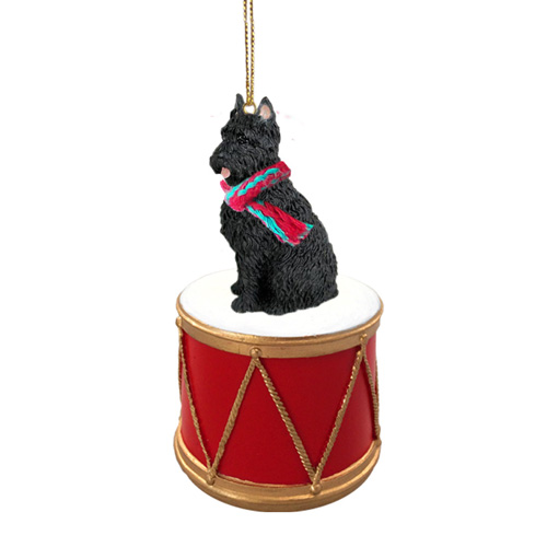Little Drummer Bouvier des Flandres Christmas Ornament