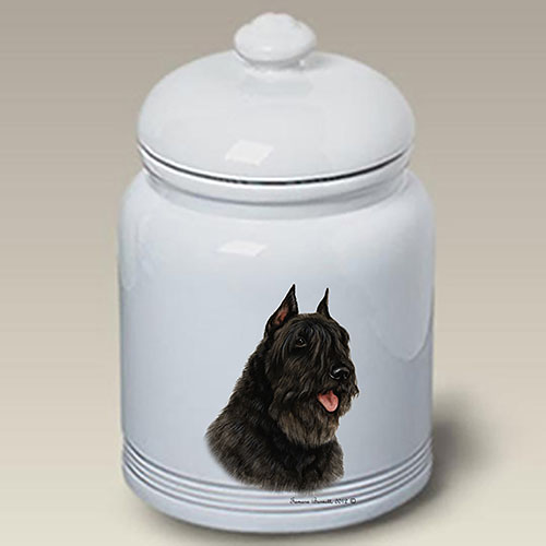 Bouvier Des Flandres Treat Jar