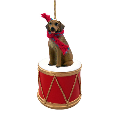 Little Drummer Rhodesian Ridgeback Christmas Ornament