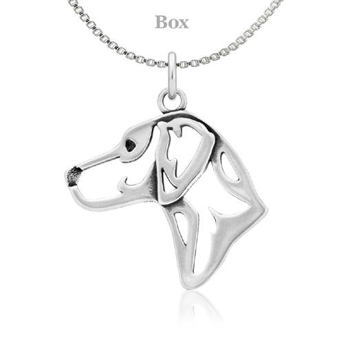 Sterling Silver Rhodesian Ridgeback Head Necklace