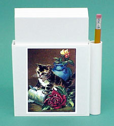 Kitten & Roses Hold-a-Note
