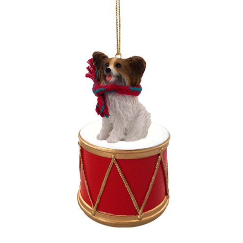 Little Drummer Papillon Christmas Ornament
