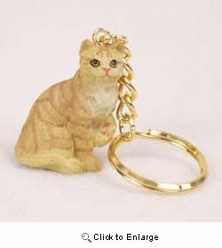 Red Tabby Cat Keychain