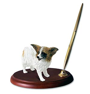 Papillon Pen Holder (Brown & White)