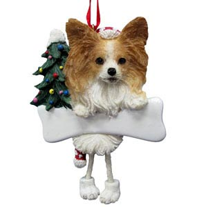 Papillon Christmas Tree Ornament - Personalize