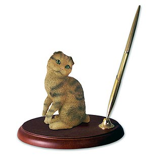 Scottish Fold Cat Pen Holder