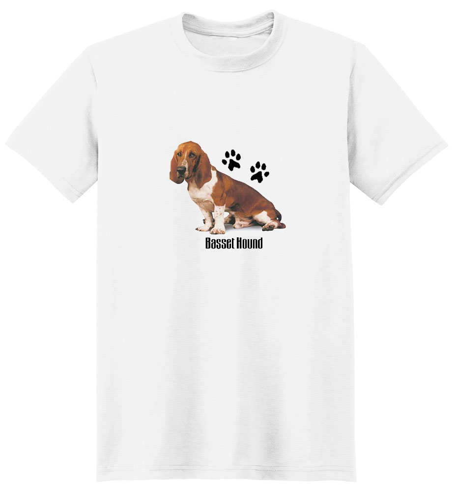 Basset Hound T-Shirt - Stylin With Paws