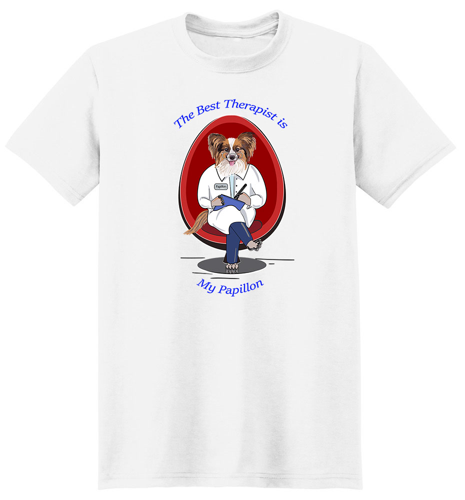 Papillon T Shirt Best Therapist