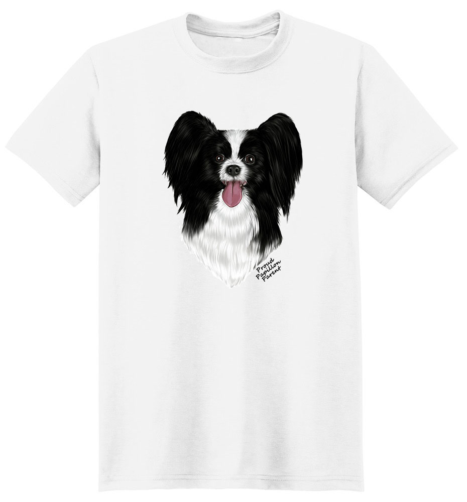 Papillon T Shirt - Proud Parent