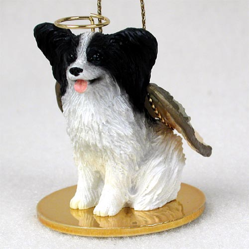 Papillon Angel Ornament Black-White