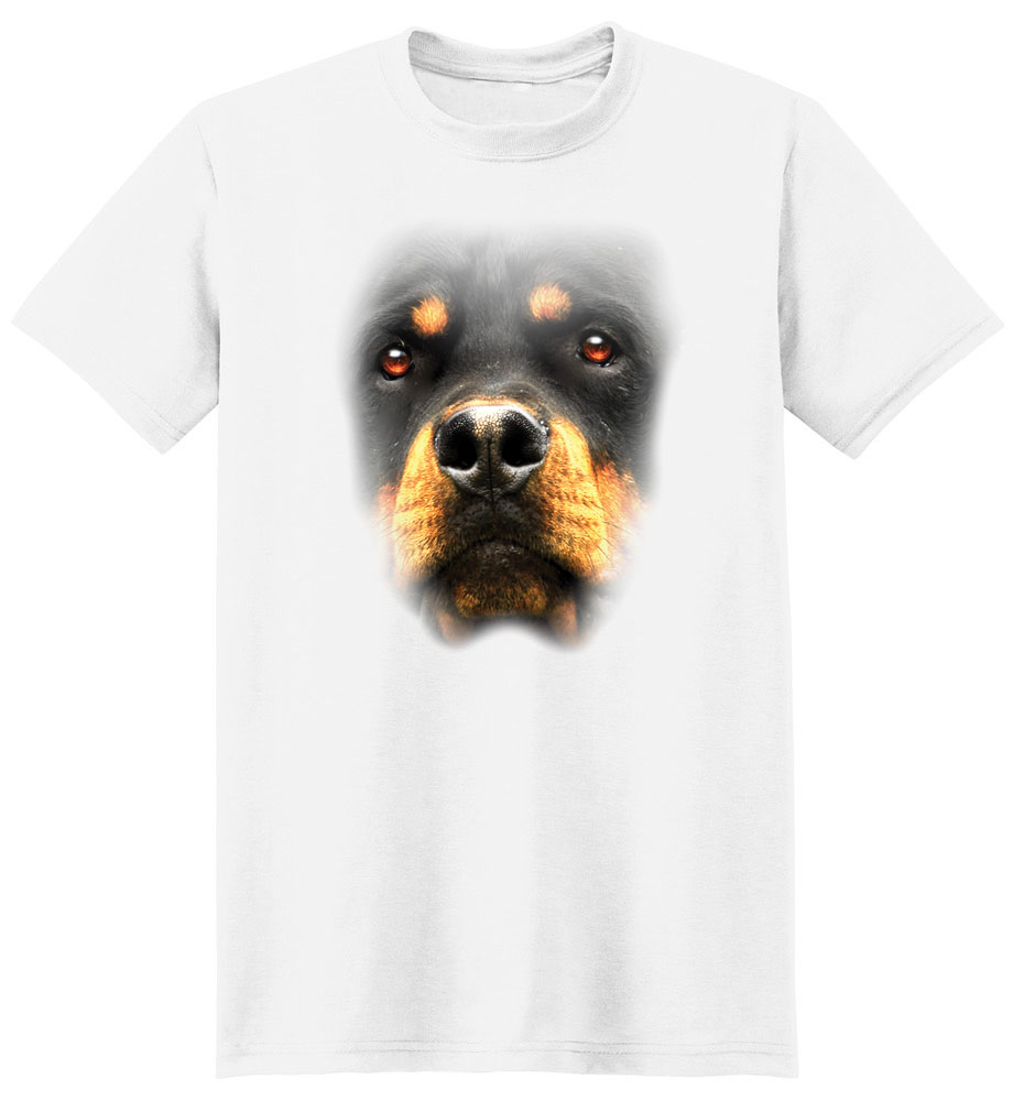 Rottweiler T Shirt Full Face
