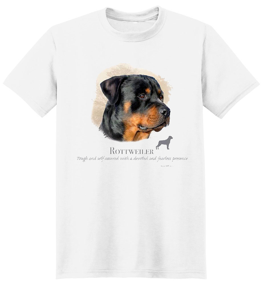 Rottweiler T Shirt by Howard Robinson