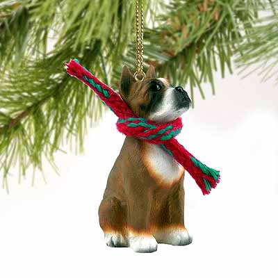 Boxer Tiny One Christmas Ornament