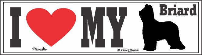 Briard Bumper Sticker I Love My