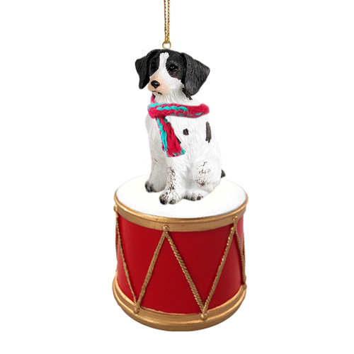 Little Drummer Brittany Liver-White Christmas Ornament