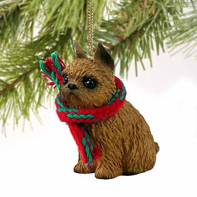 Brussels Griffon Tiny One Christmas Ornament Red
