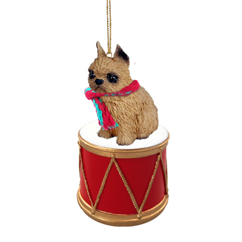 Little Drummer Brussels Griffon Christmas Ornament
