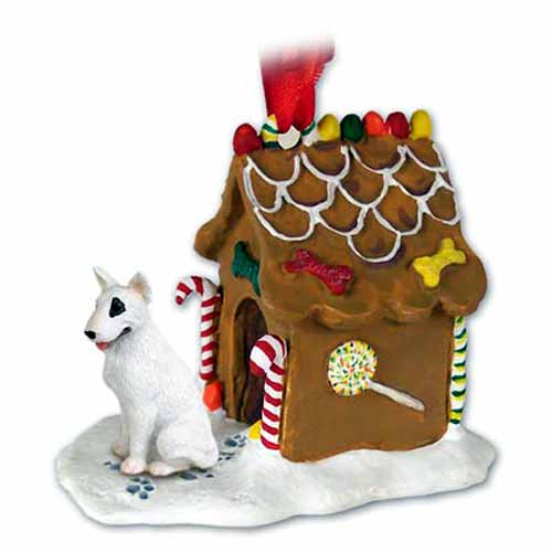Bull Terrier Gingerbread House Christmas Ornament