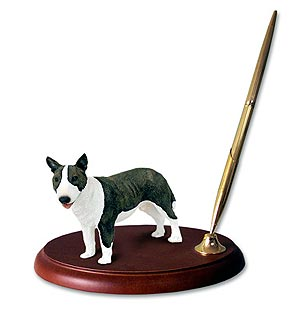 Bull Terrier Pen Holder (Brindle)