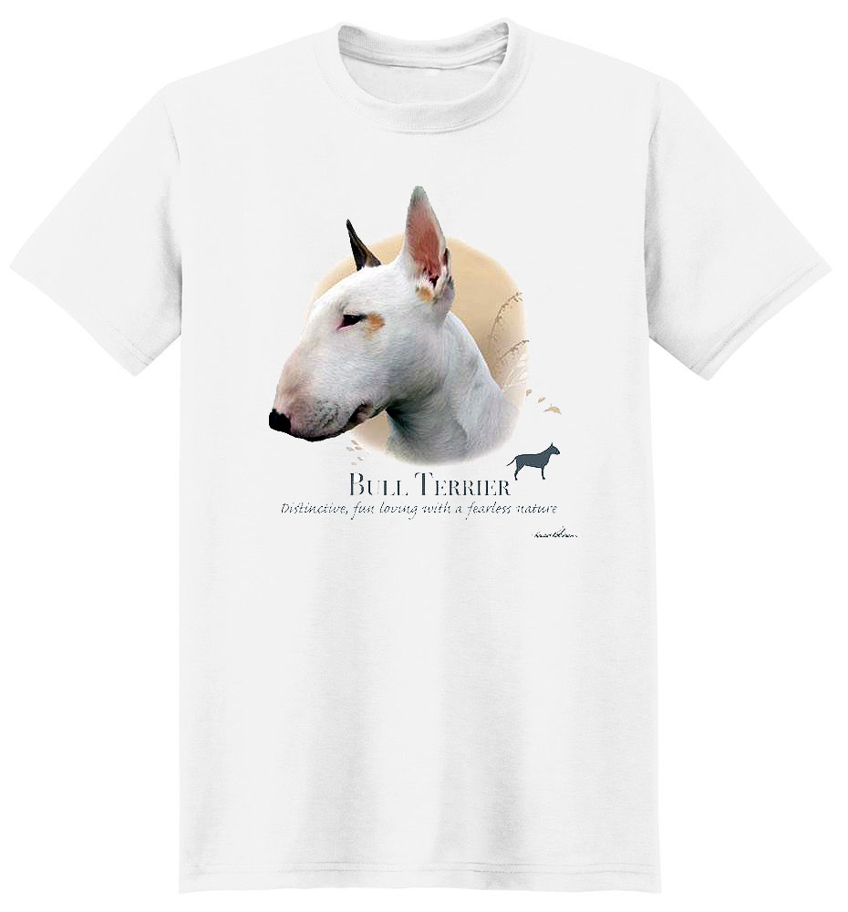 Bull Terrier T Shirt by Howard Robinson