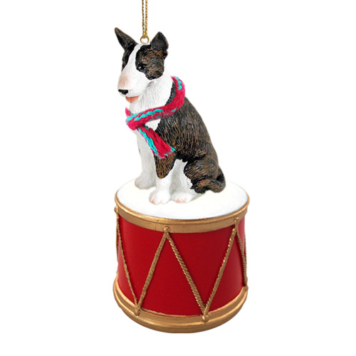 Little Drummer Bull Terrier Brindle Christmas Ornament