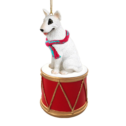 Little Drummer Bull Terrier Christmas Ornament