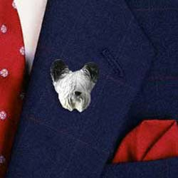 Skye Terrier Pin Hand Painted Resin