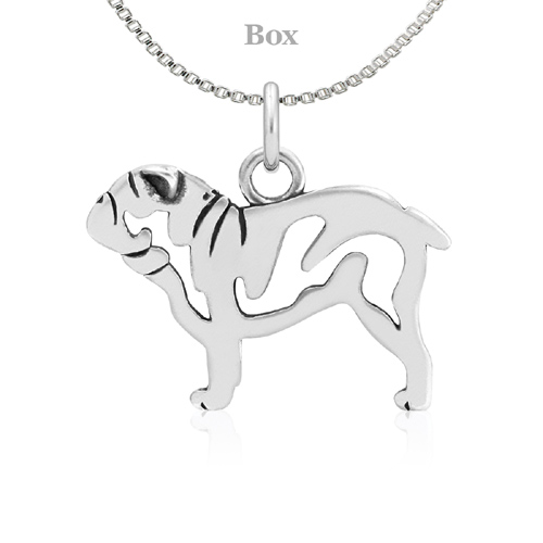 Sterling Silver Bulldog Body Necklace