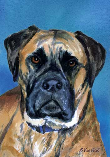 Bull Mastiff House Flag