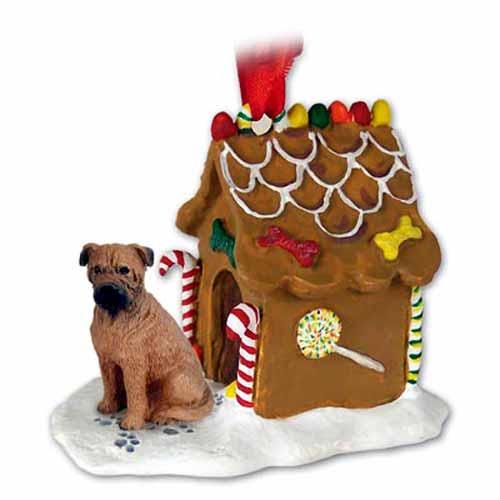 Bullmastiff Gingerbread House Christmas Ornament