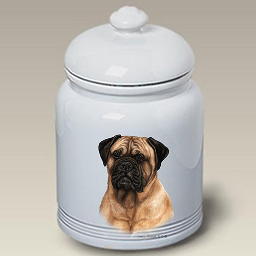 Bullmastiff Treat Jar