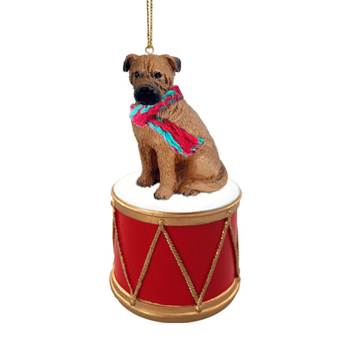 Little Drummer Bullmastiff Christmas Ornament