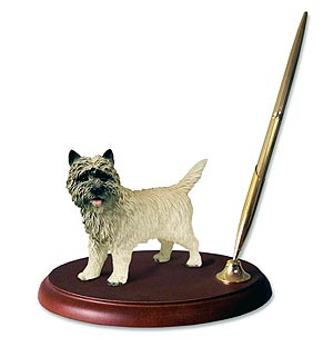 Cairn Terrier Pen Holder (Red)
