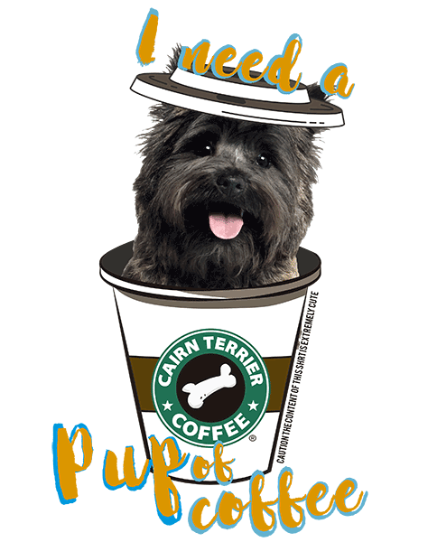 Cairn Terrier T Shirt - Coffee Mug Black