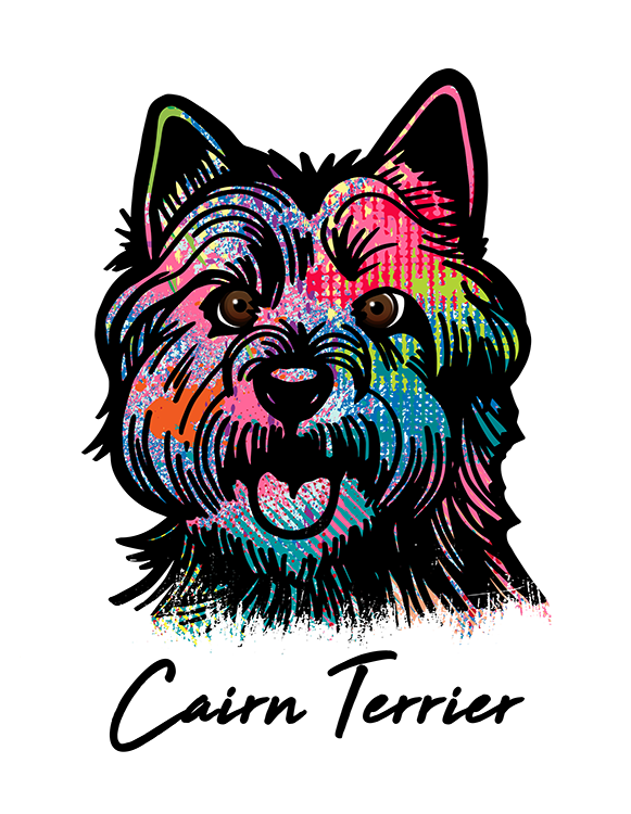 Cairn Terrier T Shirt Colorful Abstract