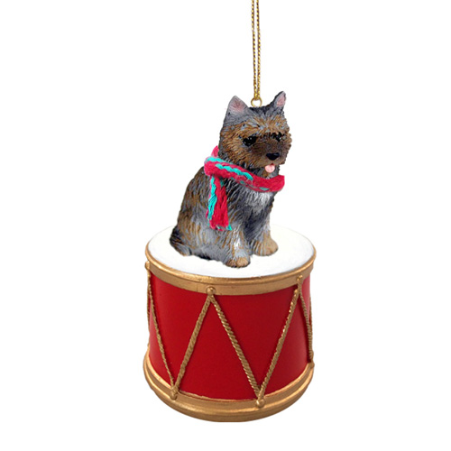 Little Drummer Brindle Cairn Terrier Christmas Ornament