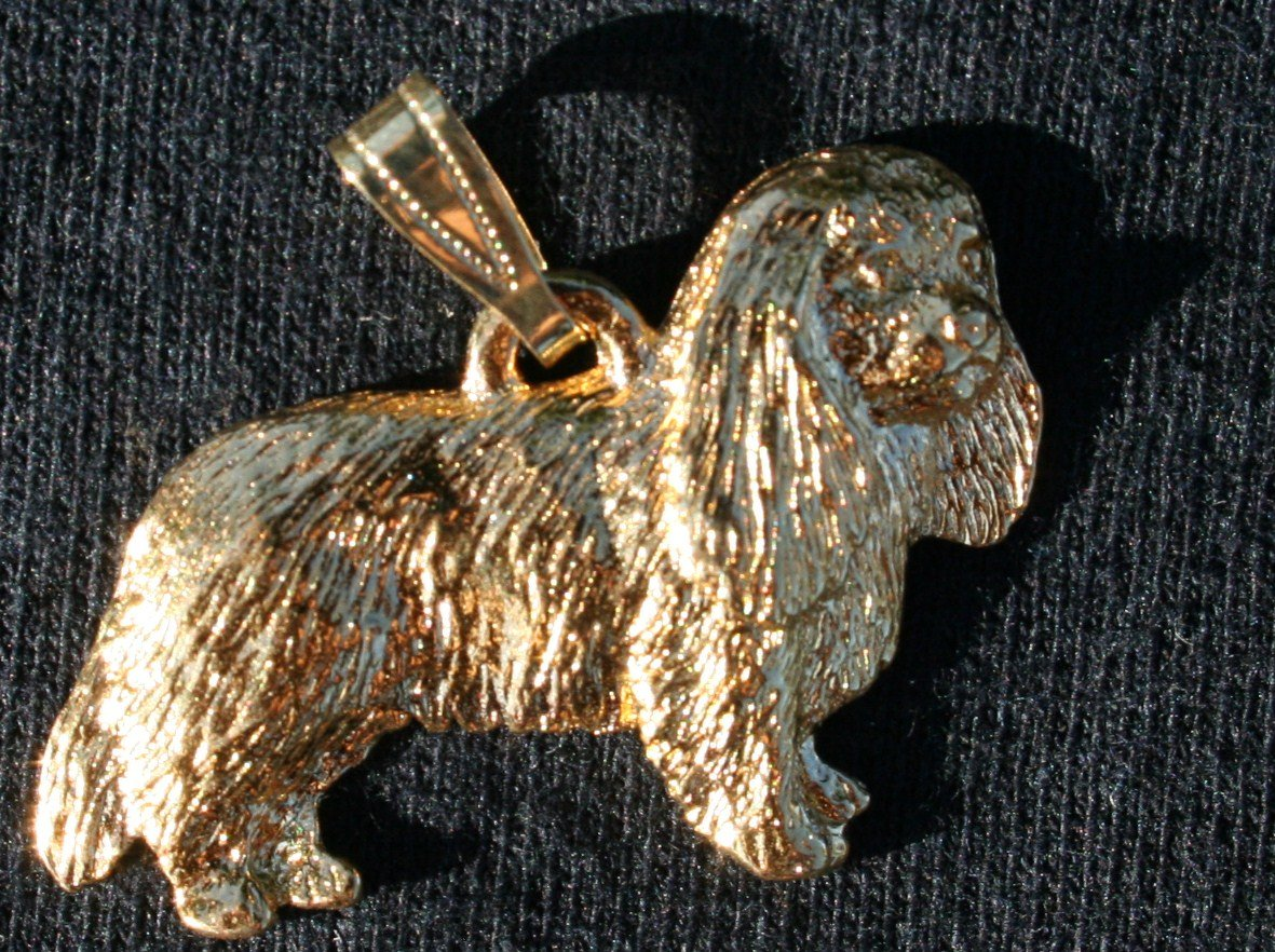 Cavalier King Charles 24K Gold Plated Pendant