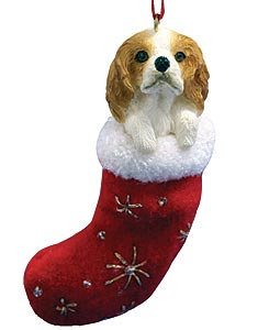 Cavalier King Charles Christmas Stocking Ornament