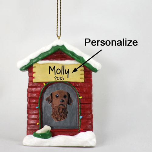 Chesapeake Bay Retriever Personalized Dog House Christmas Ornament