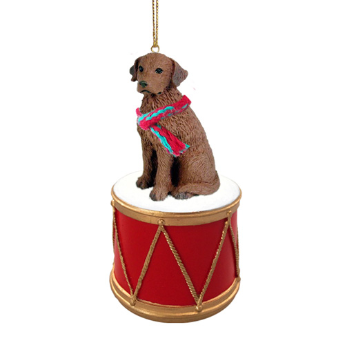 Little Drummer Chesapeake Bay Retriever Christmas Ornament