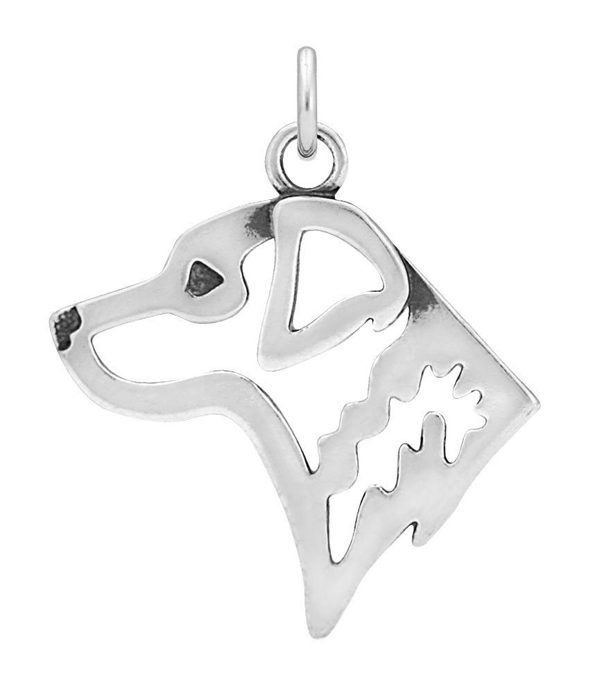 Sterling Silver Chesapeake Bay Retriever Head Necklace