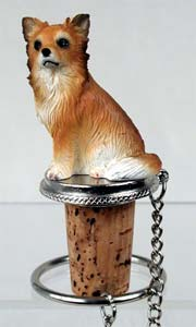 Chihuahua Bottle Stopper (Long Haired)