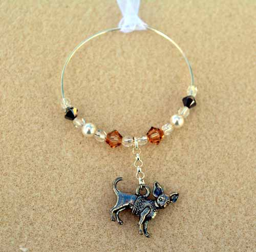 Chihuahua Car Charm - Sun Catcher