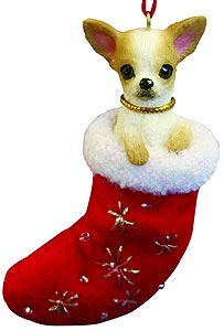 Chihuahua Christmas Stocking Ornament
