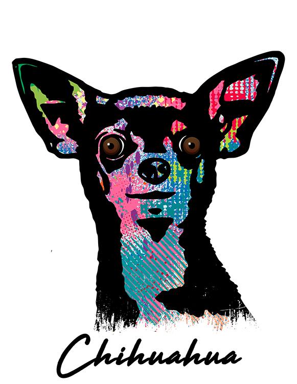 Chihuahua T Shirt Colorful Abstract