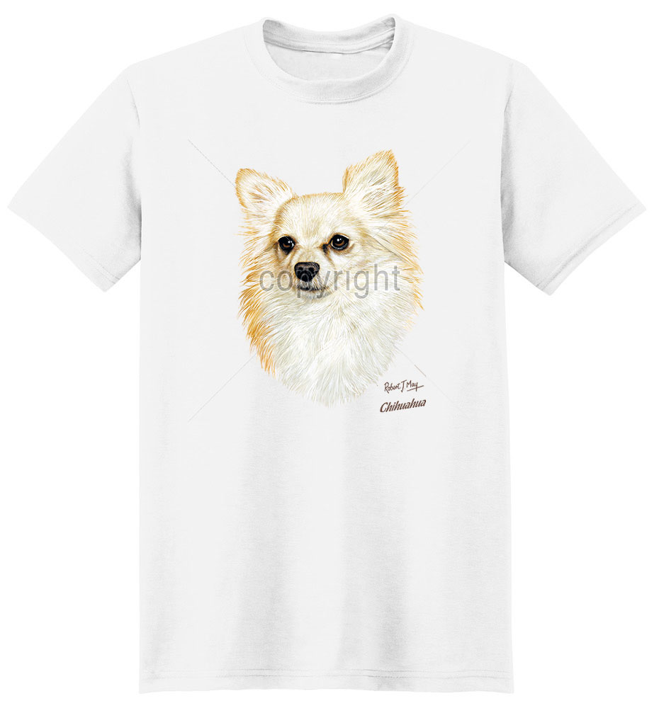 Chihuahua T Shirt Longhair By Robert May