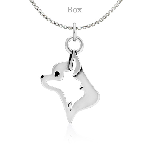 Sterling Silver Chihuahua Necklace