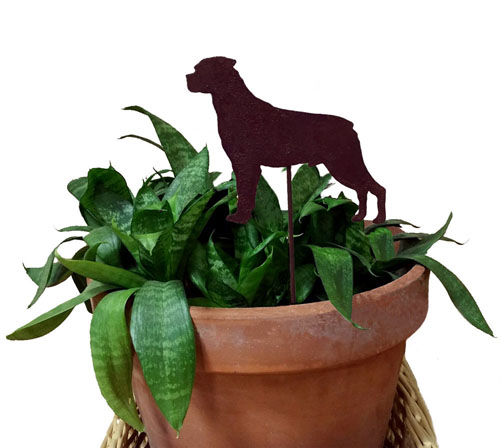 Rottweiler Plant Stake